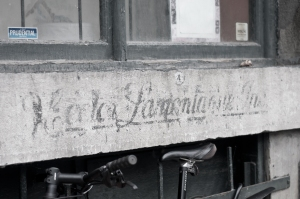 Old advertising near the old port