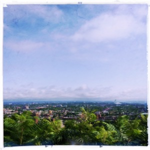 The view from on top of Mont Royal