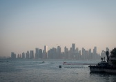 Doha skyline in the distance