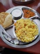 Vegan fare from the Hare Krishna temple