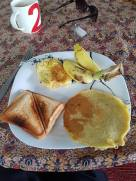 One of the fantastic breakfasts provided by our guest house
