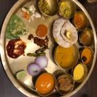 Veggie thali for lunch