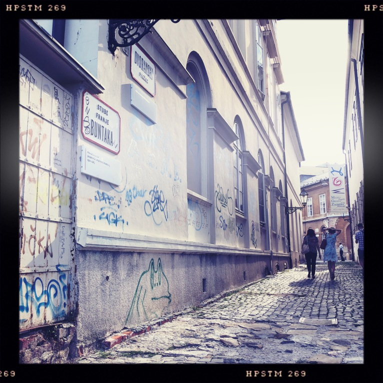 This type of cool alleyway was the norm