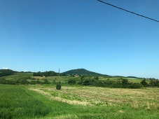 Fields and distant mountains like NC