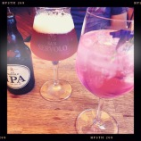 Beers and pink gin
